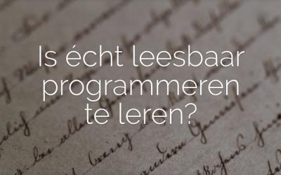 Online workshop: leesbaar programmeren