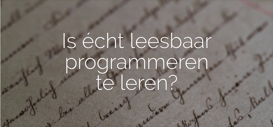 Online workshop: leesbaar programmeren